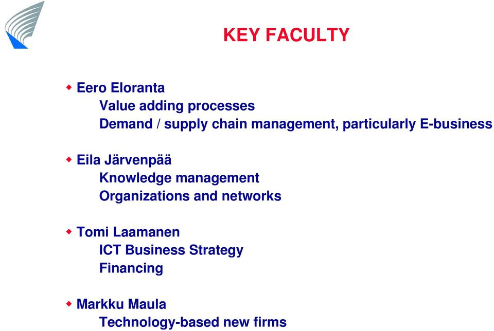 Knowledge management Organizations and networks Tomi Laamanen