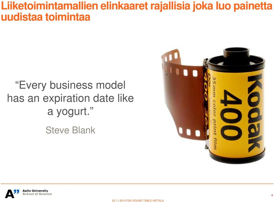 business model has an expiration date like a
