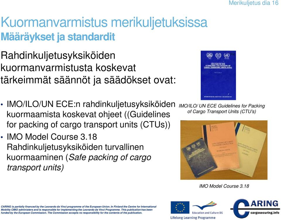 ((Guidelines for packing of cargo transport units (CTUs)) IMO Model Course 3.
