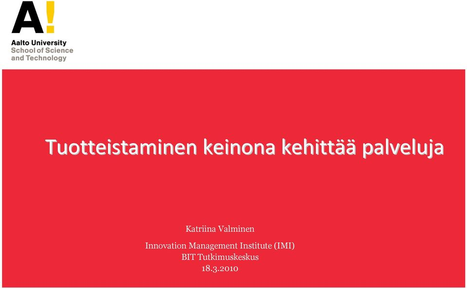Valminen Innovation Management