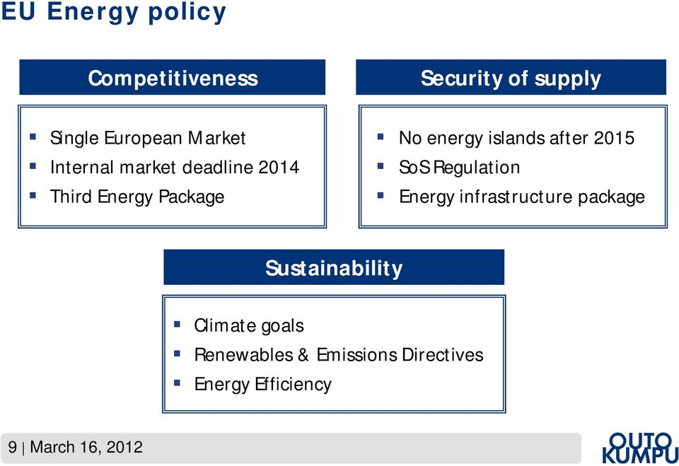 2015 SoS Regulation Energy infrastructure package Sustainability Climate