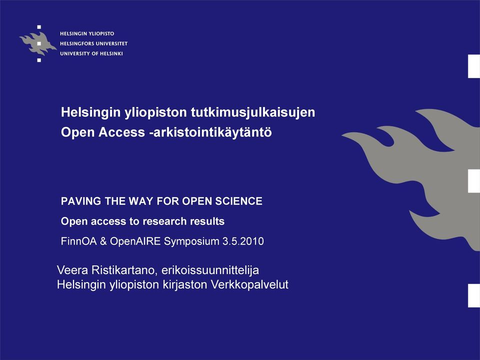 to research results FinnOA & OpenAIRE Symposium 3.5.