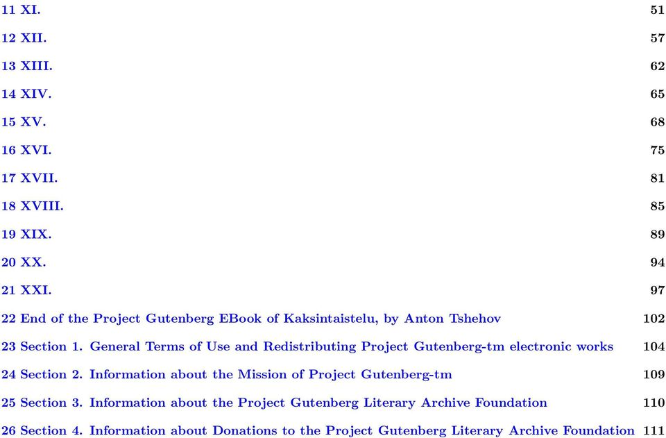 General Terms of Use and Redistributing Project Gutenberg-tm electronic works 104 24 Section 2.