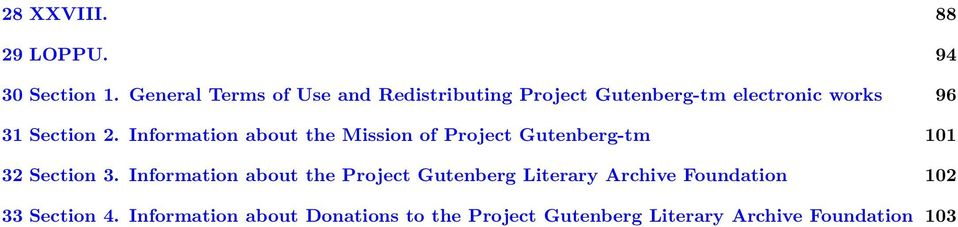 Information about the Mission of Project Gutenberg-tm 101 32 Section 3.