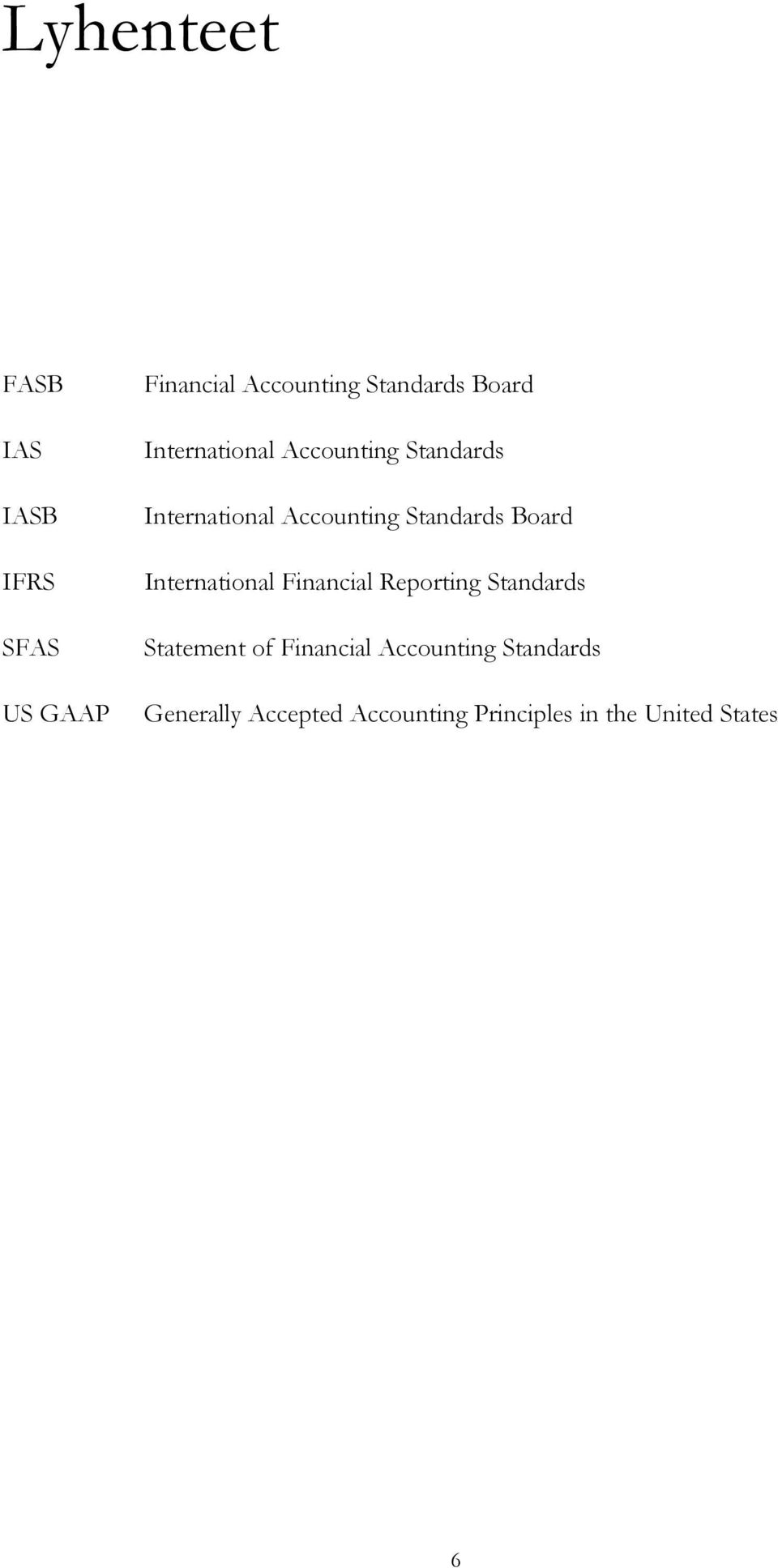 Board International Financial Reporting Standards Statement of Financial