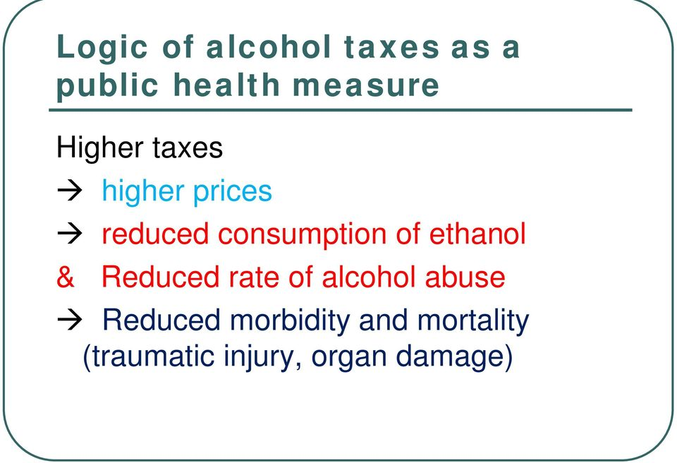 ethanol & Reduced rate of alcohol abuse Reduced