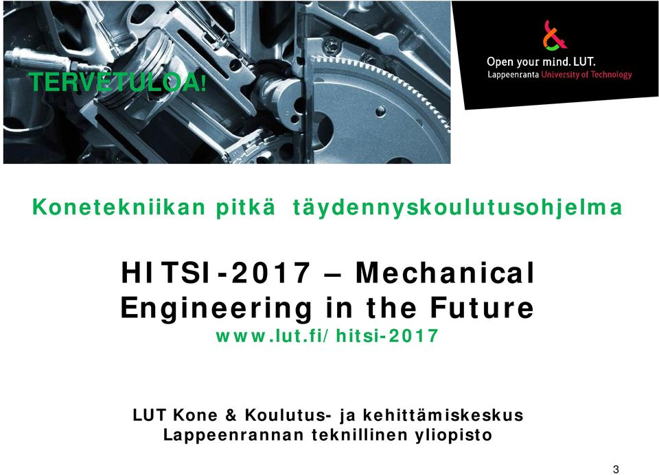 HITSI-2017 Mechanical Engineering in the Future www.
