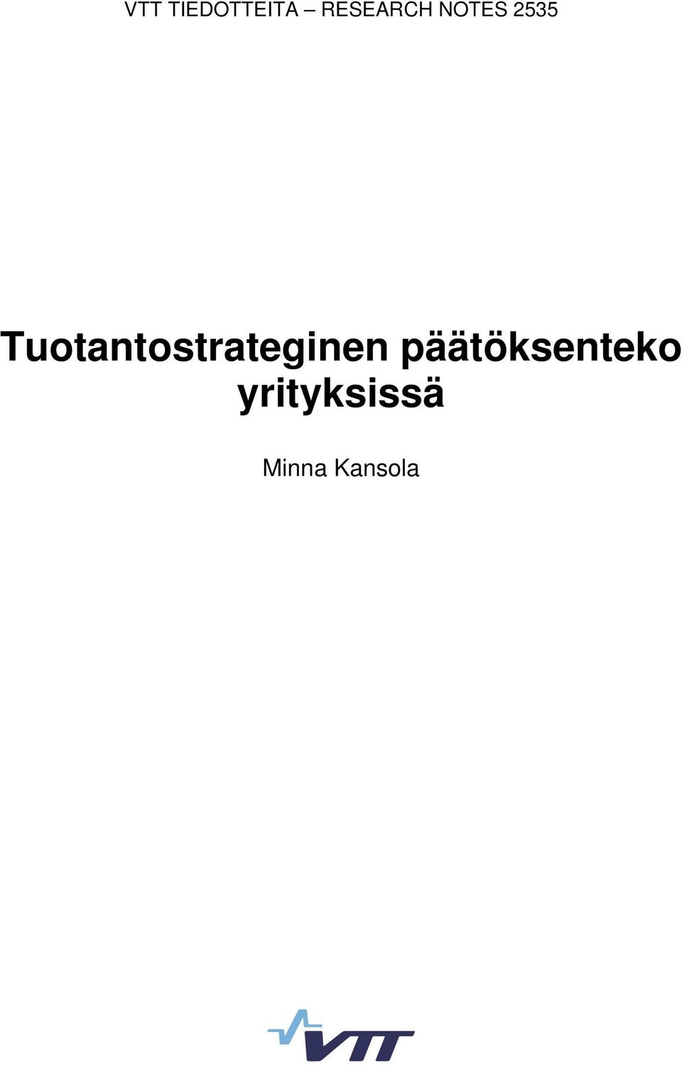 Tuotantostrateginen