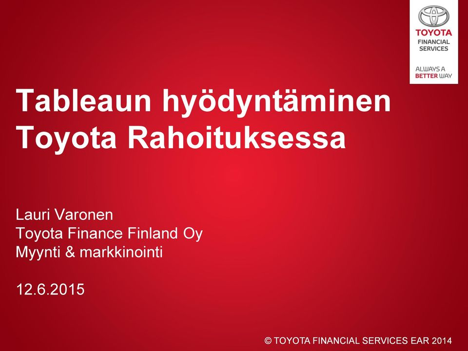 Varonen Toyota Finance