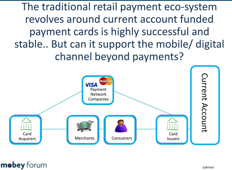 . But can it support the mobile/ digital channel beyond payments?