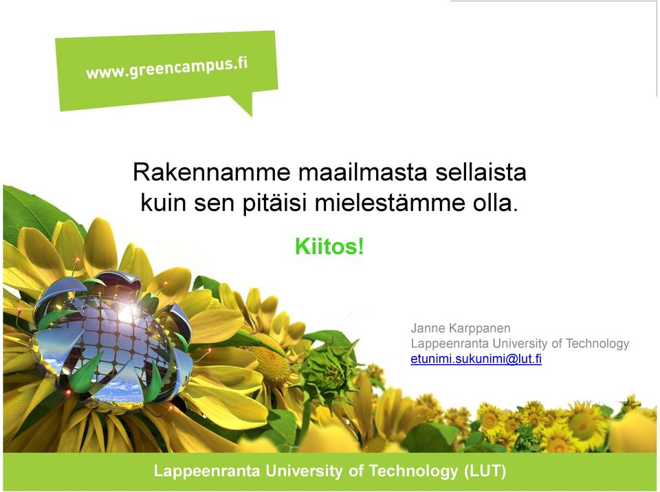 Janne Karppanen Lappeenranta University of