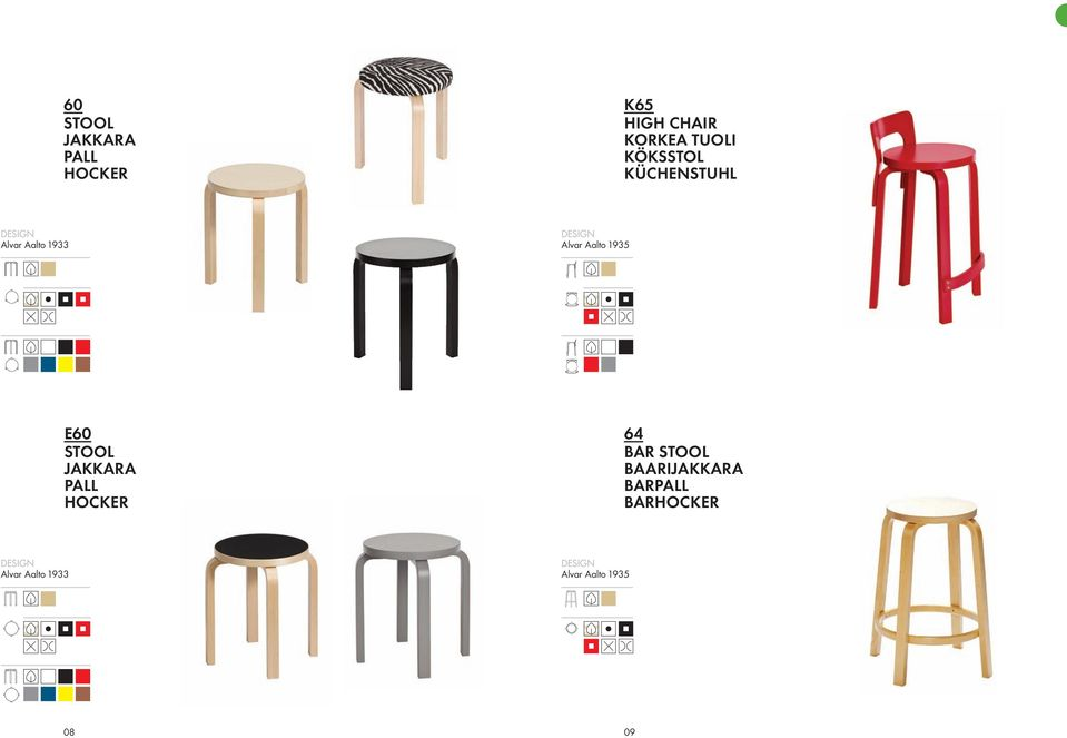 38 38 E60 STOOL JAKKARA PALL HOCKER 64 BAR STOOL BAARIJAKKARA