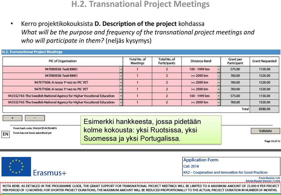 transnational project meetings and who will participate in them?