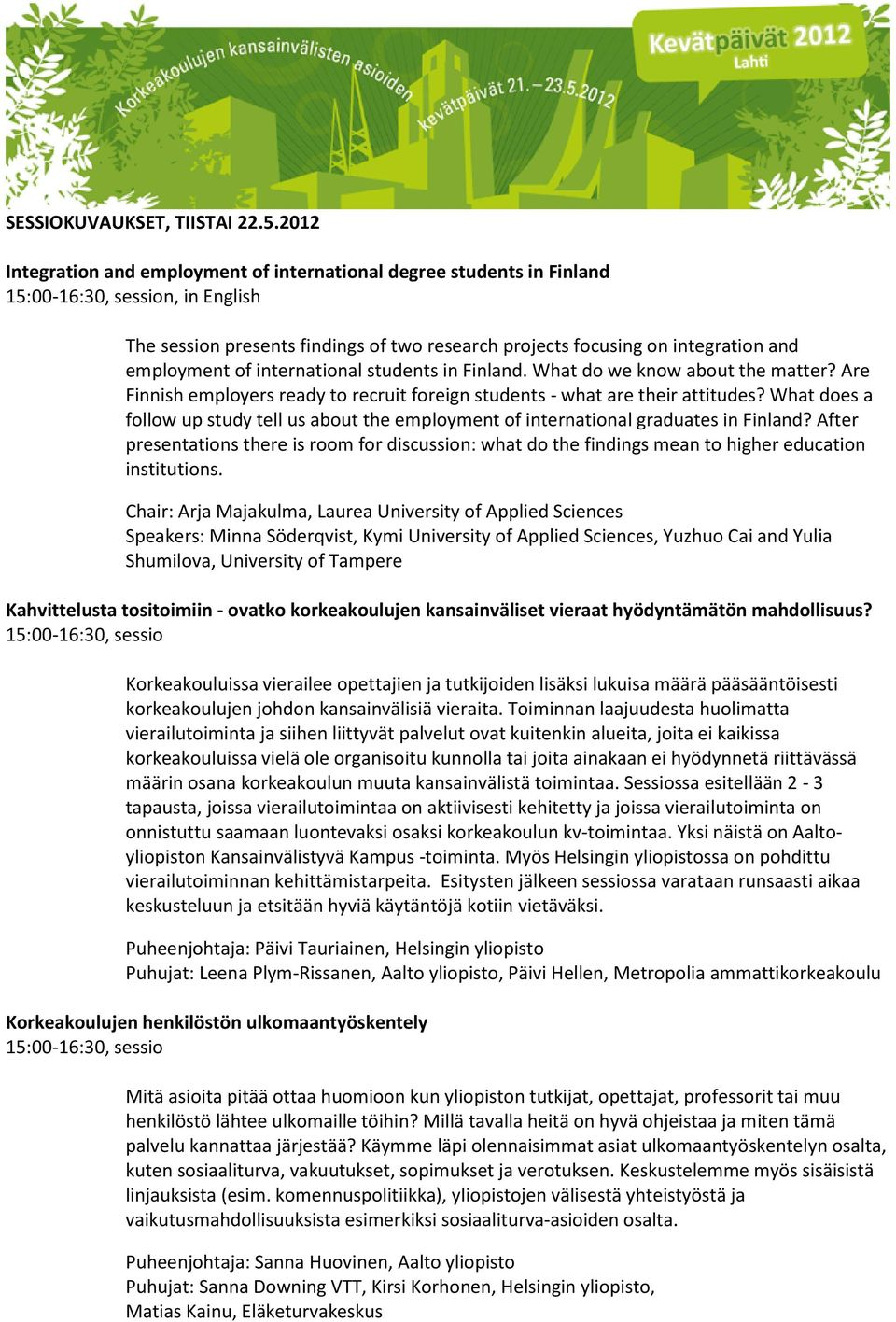 What does a follow up study tell us about the employment of international graduates in Finland?