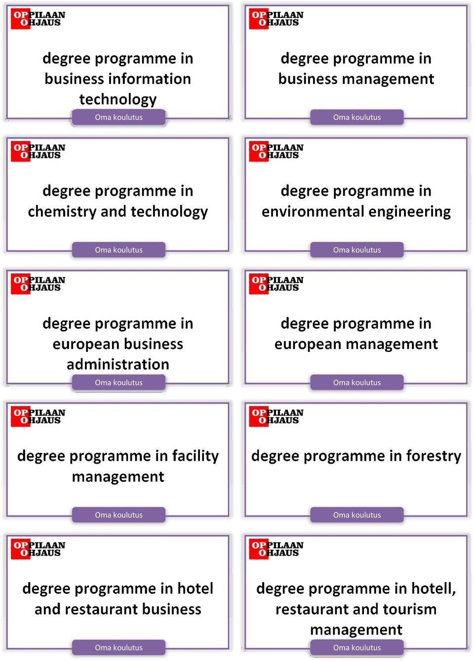 administration degree programme in european management degree programme in facility management degree programme