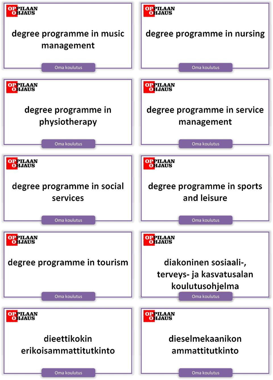 social services degree programme in sports and leisure degree programme in