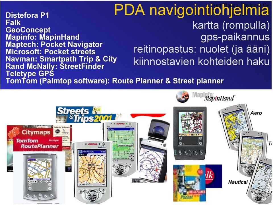 McNally: StreetFinder Teletype GPS TomTom (Palmtop software): Route Planner & Street