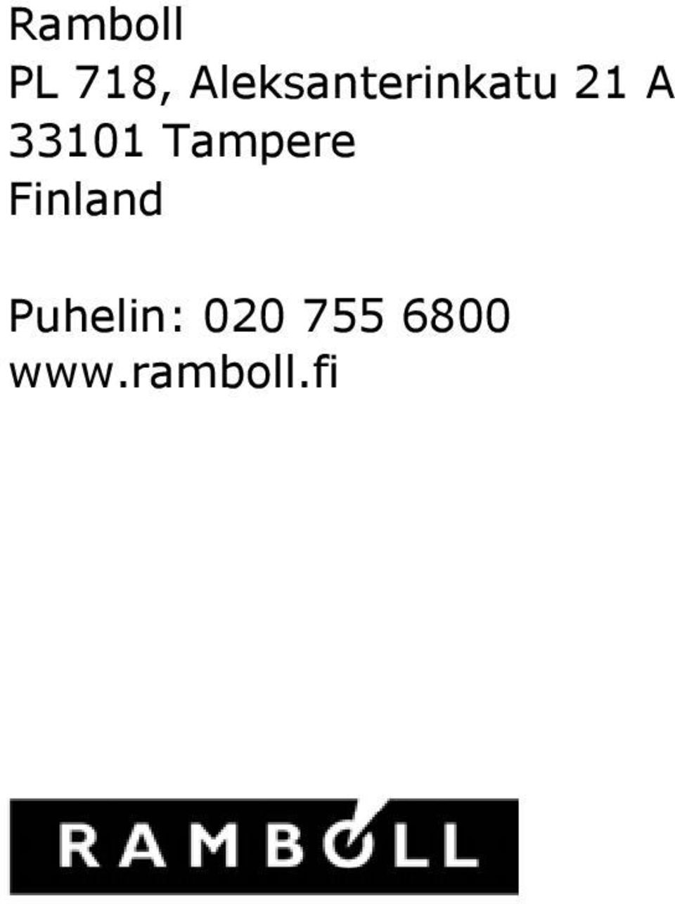 33101 Tampere Finland