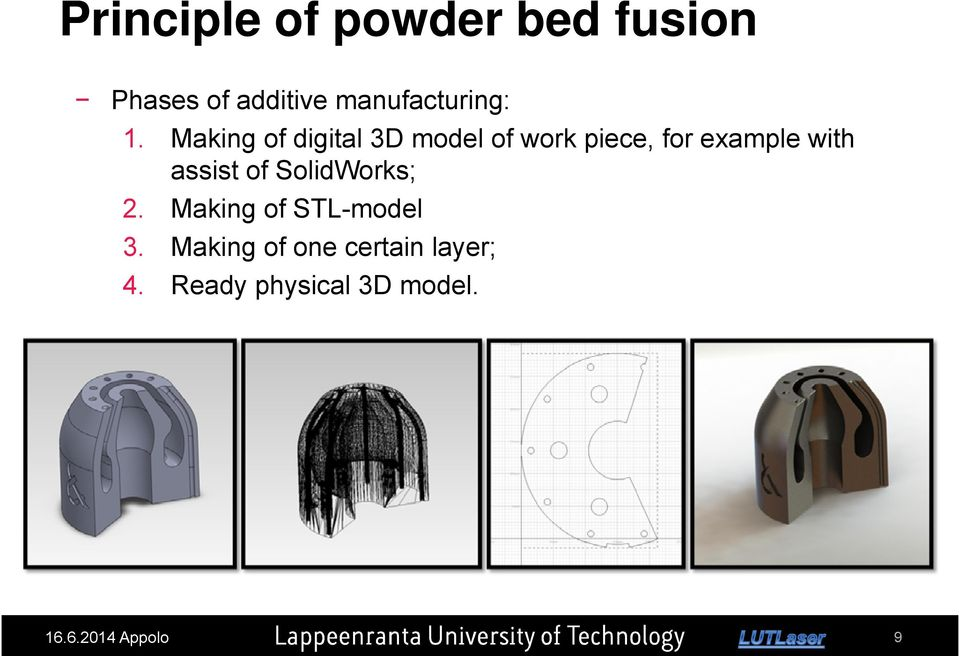 Making of one certain layer; 4. Ready physical 3D model. Messukeskus, 21.11.2013, 20.11.2013, Lappeenranta, Turku, 16.