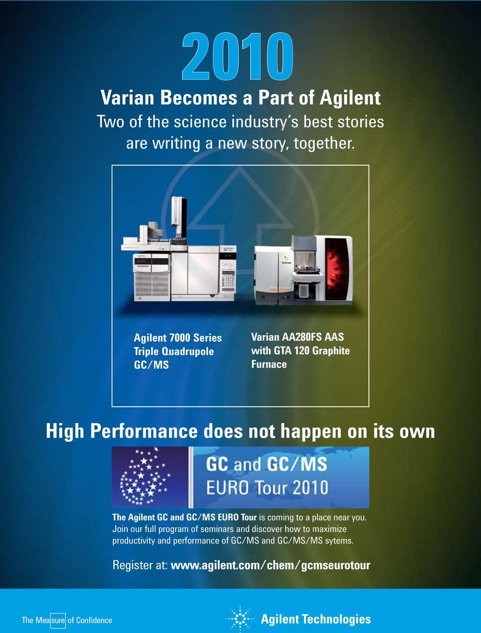 happen on its own The Agilent GC and GC/MS EURO Tour is coming to a place near you.
