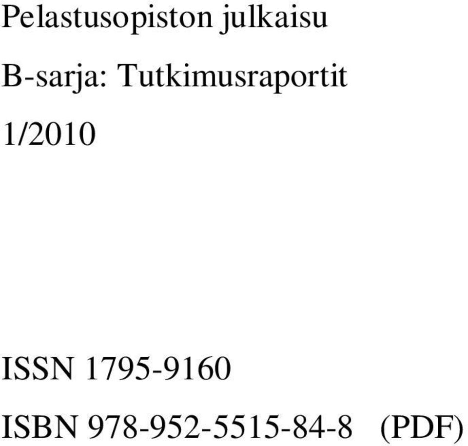 1/2010 ISSN 1795-9160