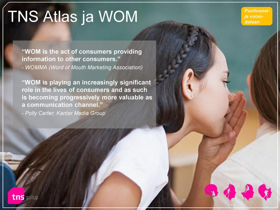 - WOMMA (Word of Mouth Marketing Association) WOM is playing an increasingly