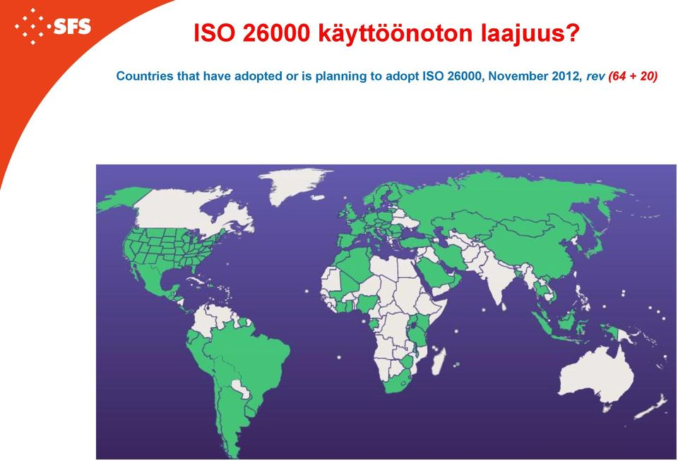 is planning to adopt ISO
