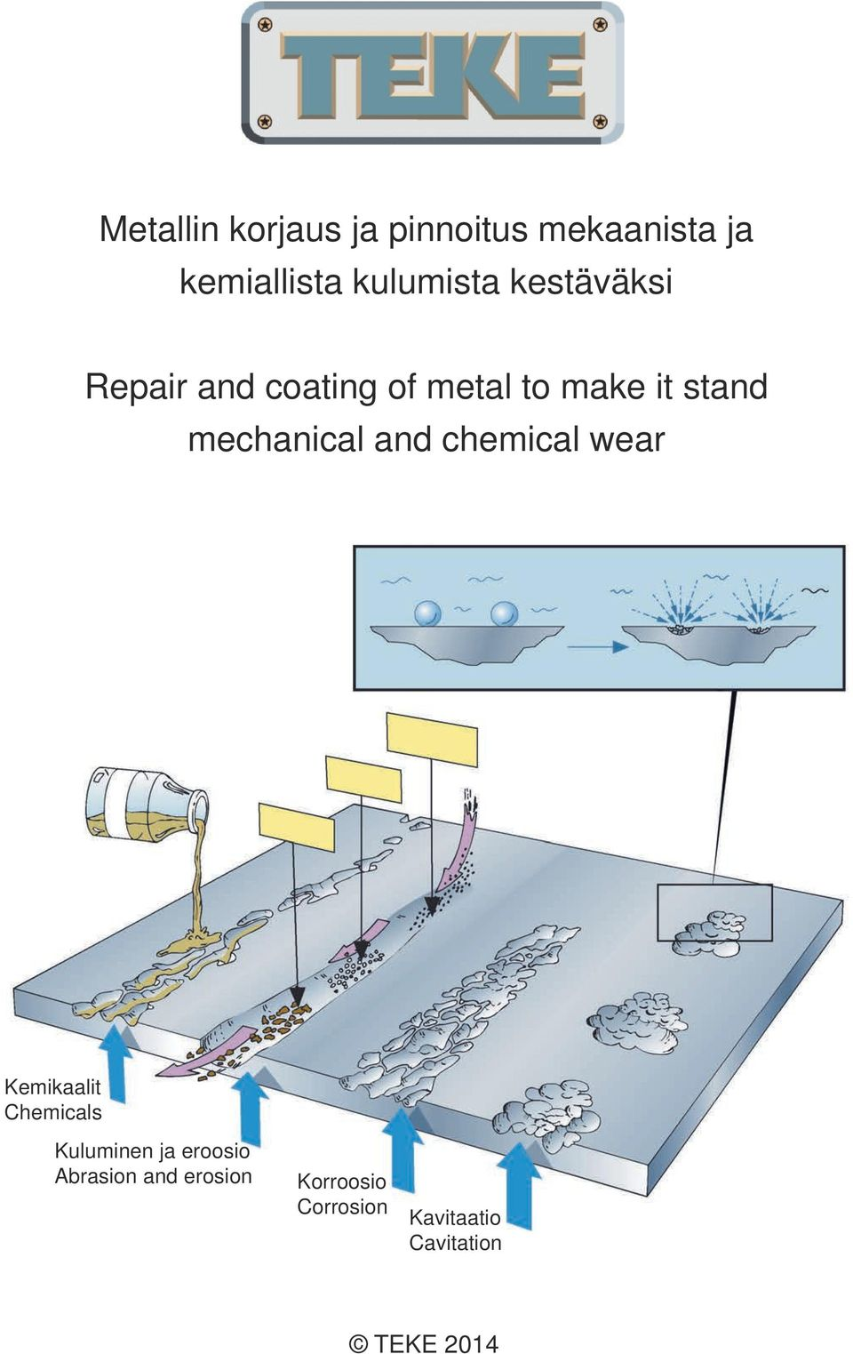 stand mechanical and chemical wear Kemikaalit Chemicals