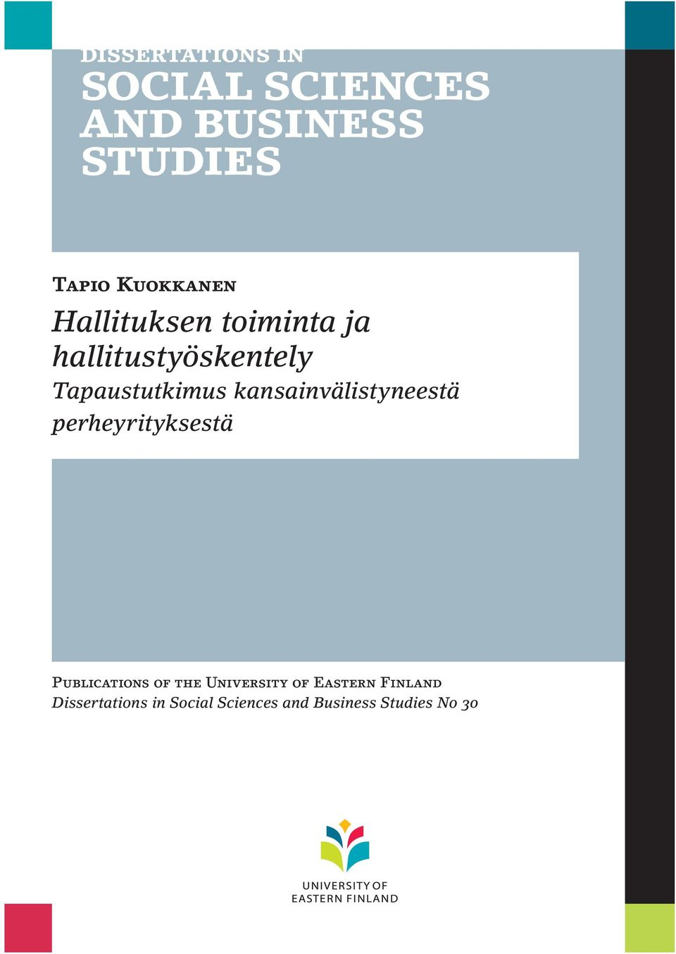 perheyrityksestä Publications of the University of