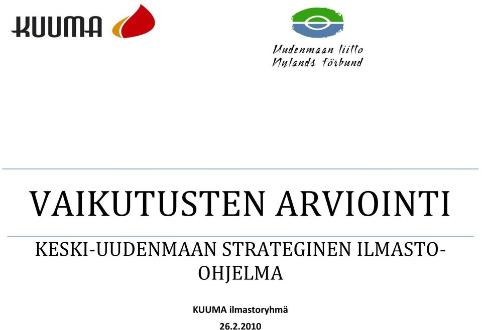 STRATEGINEN ILMASTO-