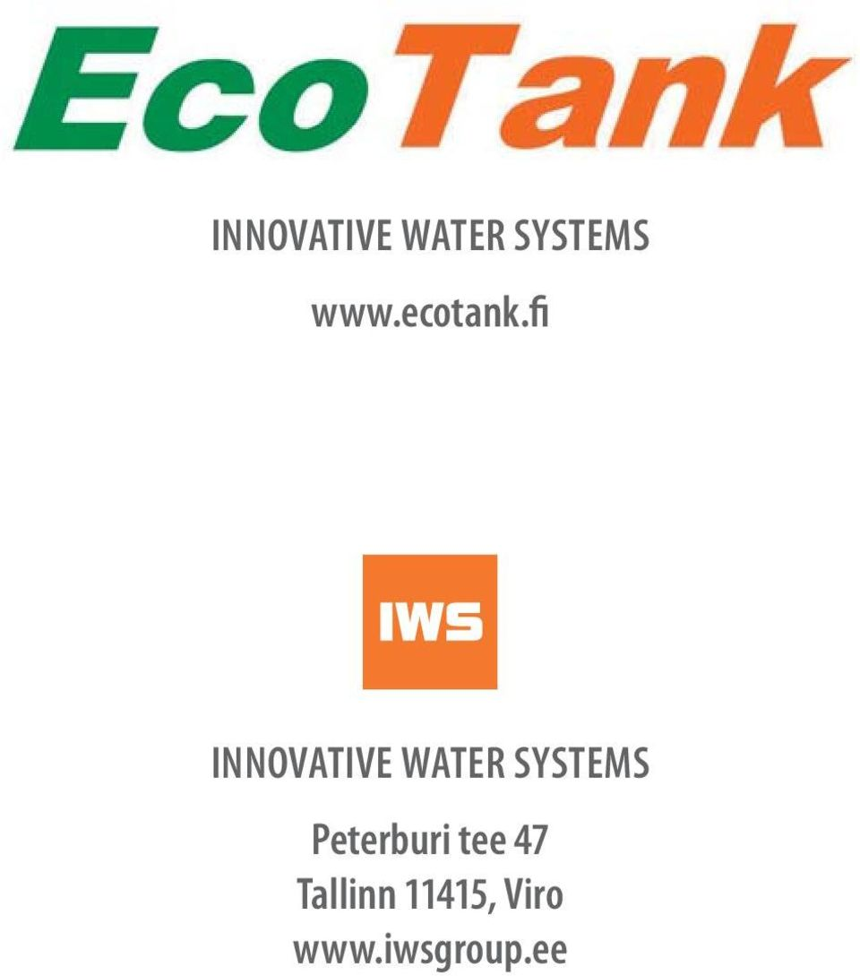 fi INNOVATIVE WATER SYSTEMS