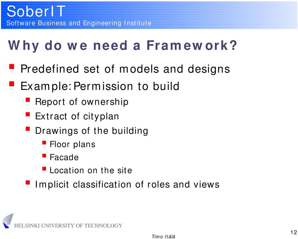 build Report of ownership Extract of cityplan Drawings of