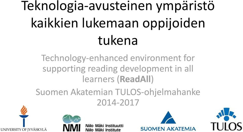 for supporting reading development in all learners