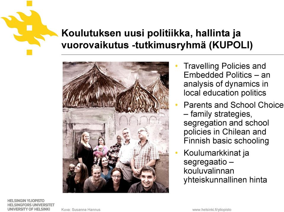 School Choice family strategies, segregation and school policies in Chilean and Finnish basic