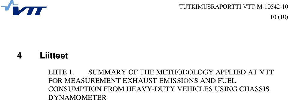 FOR MEASUREMENT EXHAUST EMISSIONS AND FUEL