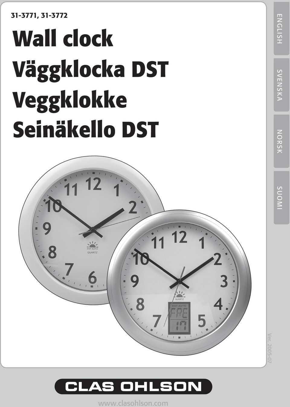 Seinäkello DST ENGLISH SVENSKA