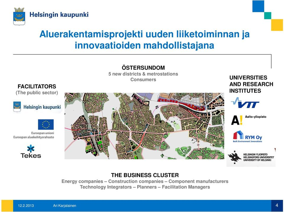 UNIVERSITIES AND RESEARCH INSTITUTES ÖSTER SUNDOM THE BUSINESS CLUSTER Energy companies