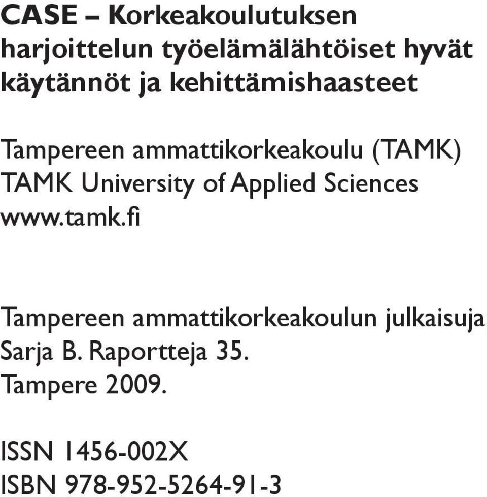 of Applied Sciences www.tamk.