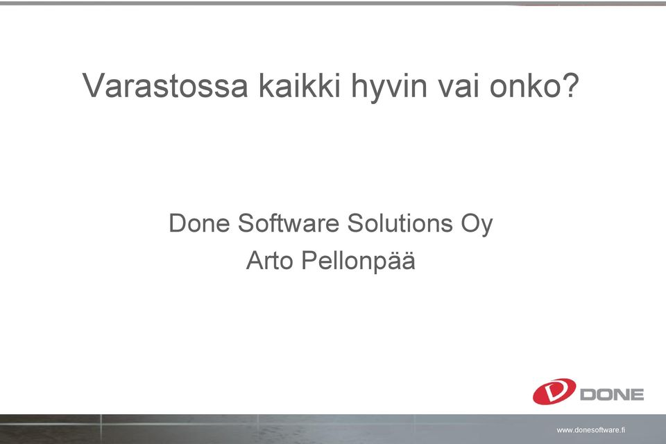 Done Software