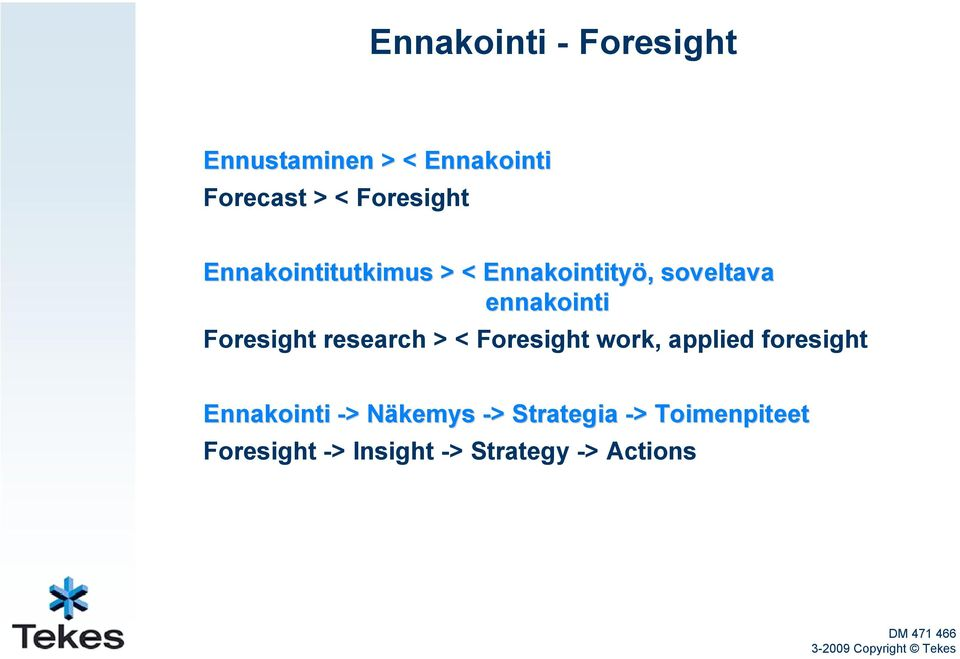 Foresight research > < Foresight work, applied foresight Ennakointi -> >
