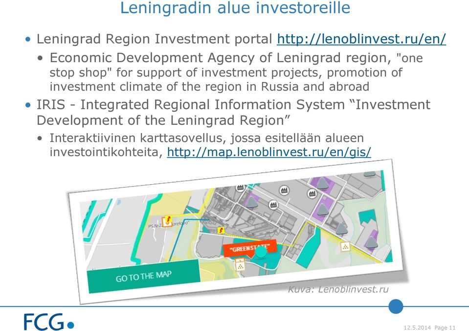 investment climate of the region in Russia and abroad IRIS - Integrated Regional Information System Investment Development of
