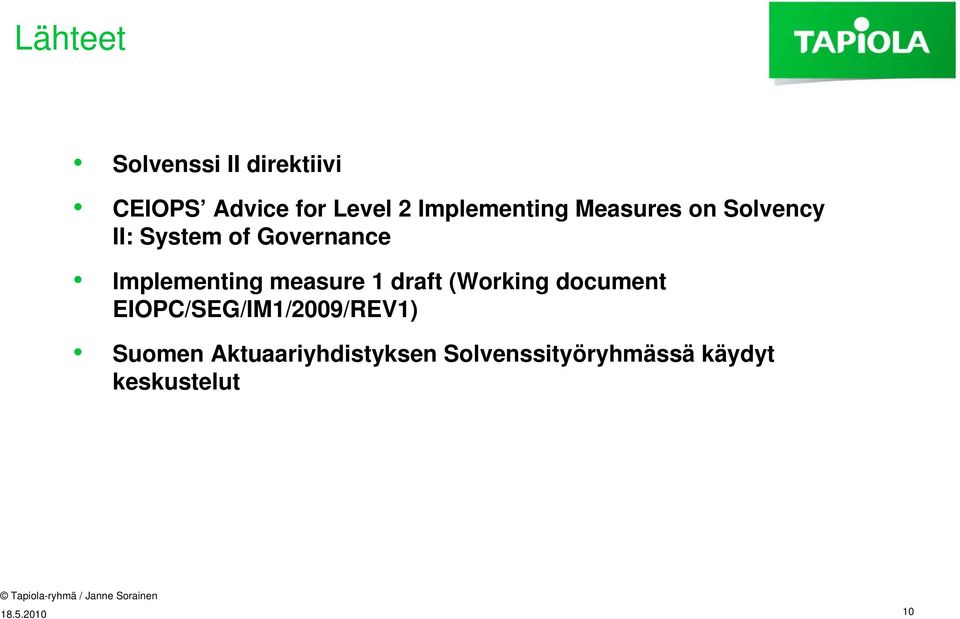 Implementing measure 1 draft (Working document