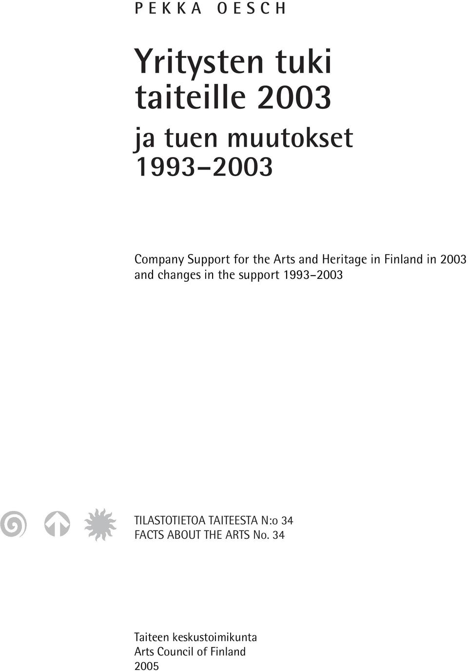 Heritage in Finland in 2003 and changes in the support 1993 2003 TILASTOTIETOA