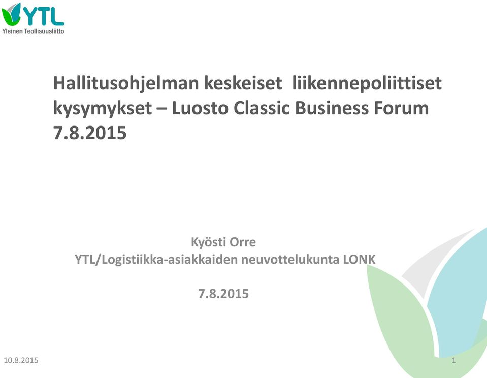 Classic Business Forum 7.8.