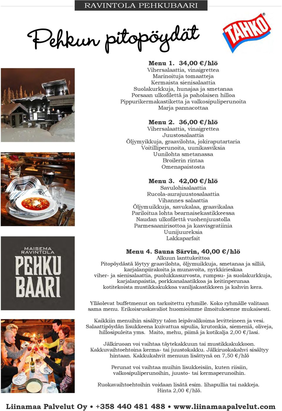 Marja pannacottaa Menu 2.