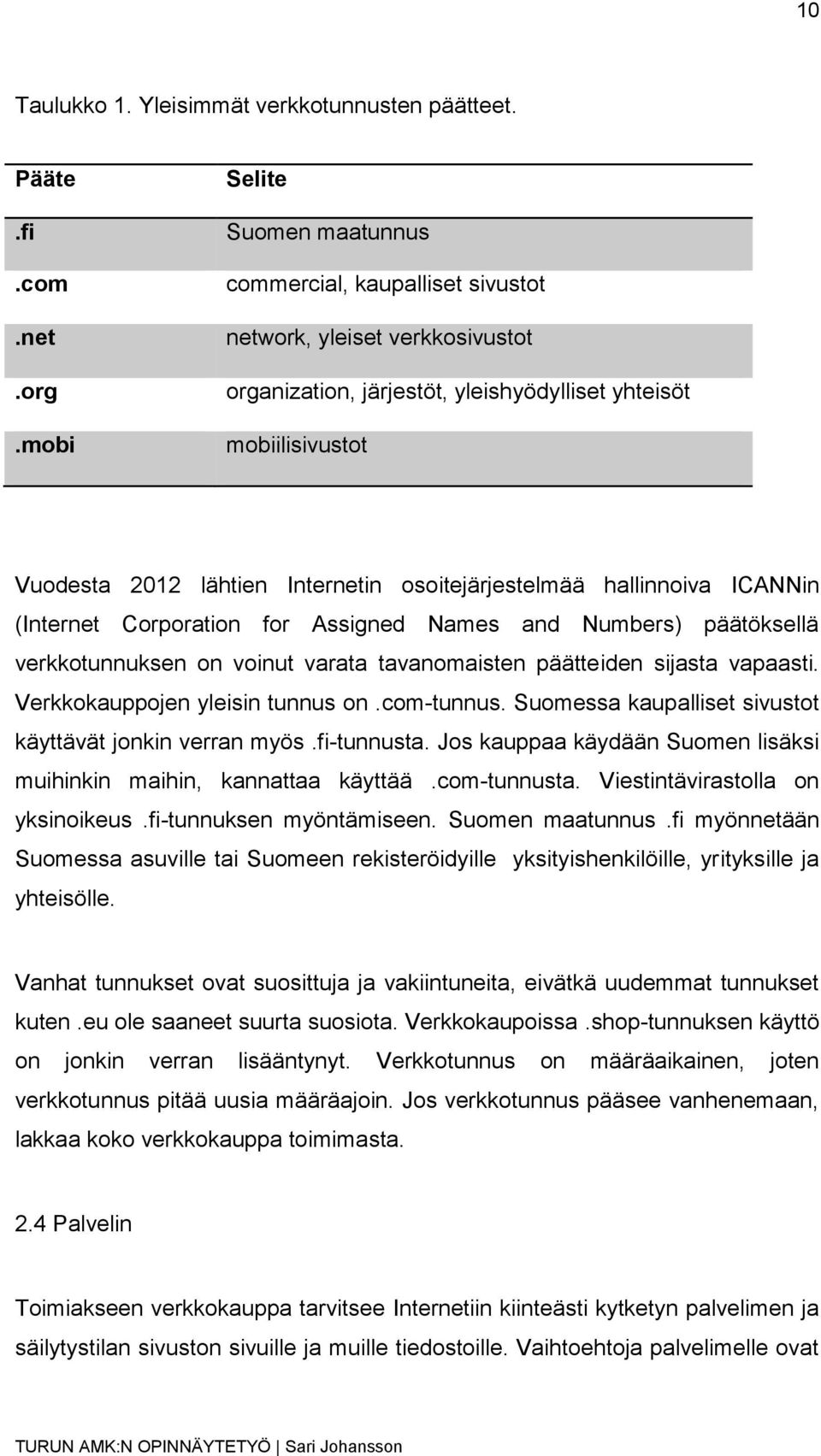 osoitejärjestelmää hallinnoiva ICANNin (Internet Corporation for Assigned Names and Numbers) päätöksellä verkkotunnuksen on voinut varata tavanomaisten päätteiden sijasta vapaasti.