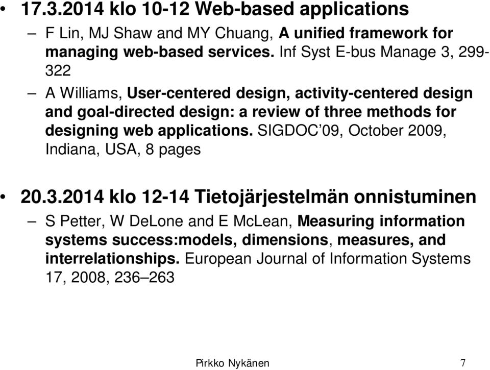 designing web applications. SIGDOC 09, October 2009, Indiana, USA, 8 pages 20.3.