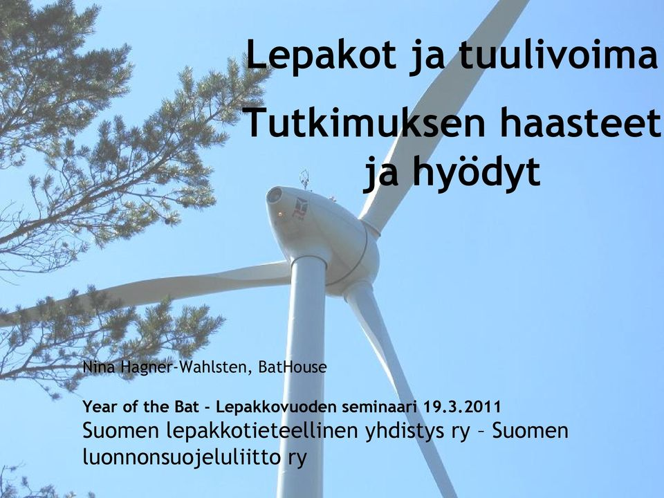 Year of the Bat - Lepakkovuoden seminaari 19.3.