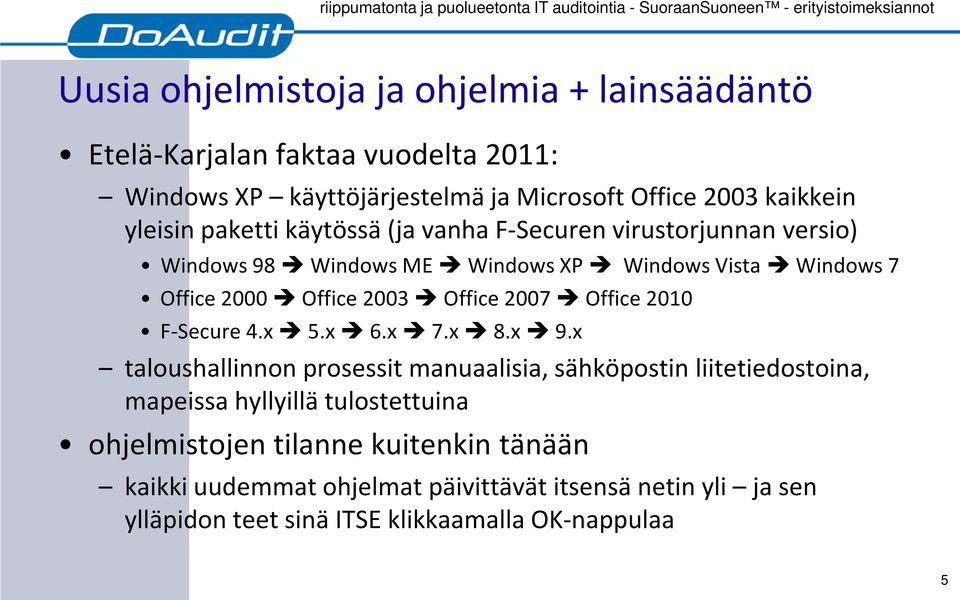 Office 2007 Office 2010 F-Secure 4.x 5.x 6.x 7.x 8.x 9.