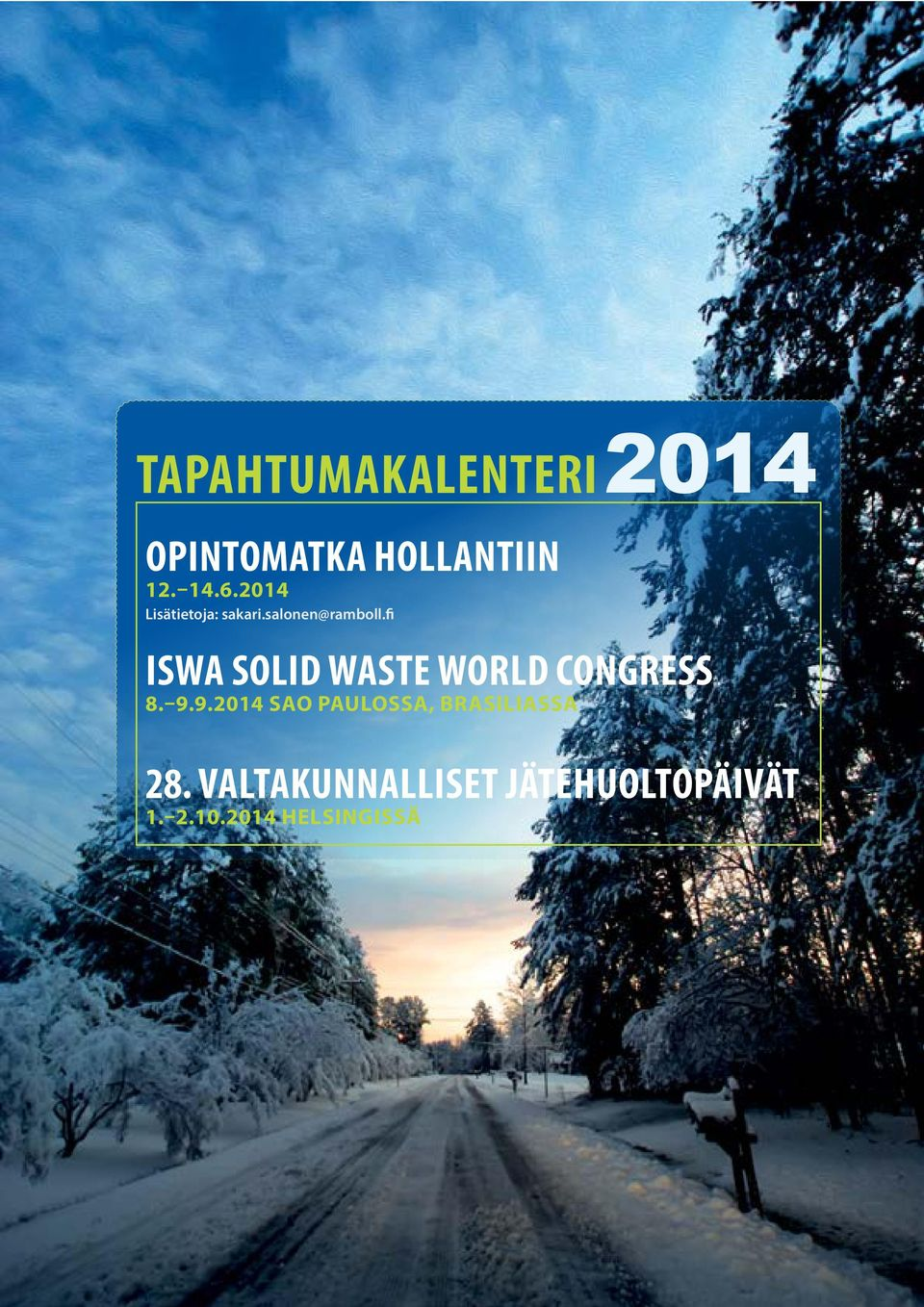 fi ISWA SOLID WASTE WORLD CONGRESS 8. 9.